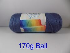 Caron Simply Soft 170g Knitting Crochet Needlecraft 60 Colors by Woolexpress Blue