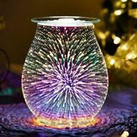 Electric Aroma Wax Melt Burner Firework Glass Lamp Night Diffuser Warmer V5D9