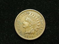 ESTATE SALE COIN XF 1909 INDIAN HEAD CENT PENNY w/ FULL LIBERTY & DIAMONDS #91v