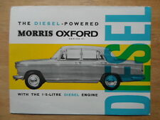 MORRIS OXFORD DIESEL Series VI orig 1964 UK Mkt Sales Brochure - H&E 6469