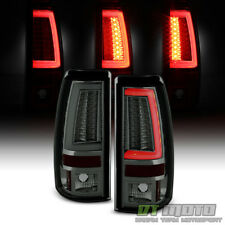 Smoke 1999-2002 Chevy Silverado 1500 99-06 GMC Sierra LED Tube Tail Lights Lamps
