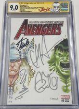 Avengers 1 Signed Stan Lee Chris Hemsworth Mark Ruffalo Taika Waititi CGC SS MCU