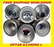 S16 Optar Illumina 8,9.5,12,16,25,50mm T1.2 lenses BMPCC M4/3 Sony A7Sii Olympus