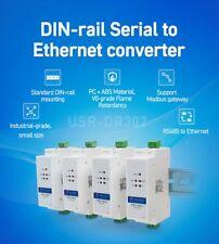 Din Rail USR-DR302 RS485 to Ethernet Converter TCP IP Server Module RTU Modbus
