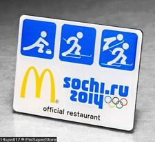 OLYMPIC PINS BADGE 2014 SOCHI RUSSIA MCDONALDS SPONSOR PICTOGRAM CURLING SKI JMP