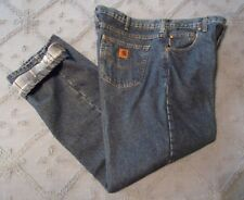 Carhartt Flannel Lined Denim Jeans Tag 40 X 32 measures 40 X 31 Excellent Cond