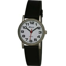 Ravel Mens Ladies Large Dial Clear White Face SILVER R0105.06.1A QUALITY