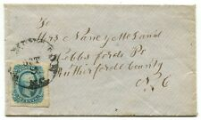 WILMINGTON NC OCT 12 1864 #12 KB 4-margin stamp on cover to Webb's Ford NC