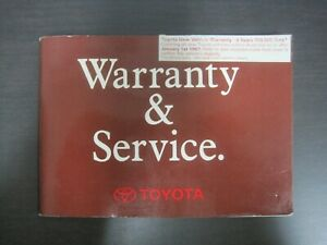 Toyota Coaster / Dyna Service and Warranty Log Book - NSD9504
