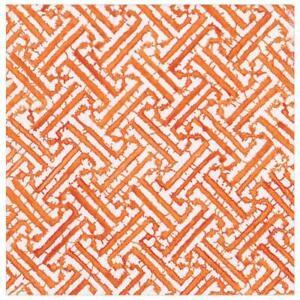 Caspari Paper Luncheon Napkins, Fretwork Orange, 2 Packs (16452L)