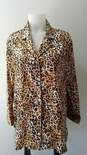 Victoria's Secret medium pajamas Leopard Design 1 Piece Set Top Good Condition.