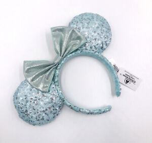 Disney Parks 2020 Minnie Ears Gift Girl Blue Frozen Arendelle Aqua Headband