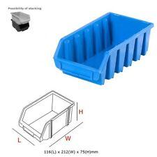 20 x Ergo L Azul apilables Cajas de almacenamiento caja de plástico 116x212x75