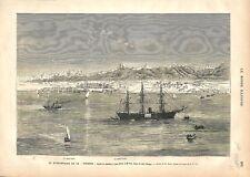 Egypte El-Tor/Tur Quarantaine Choléra Navire le Corrèze Mer Rouge GRAVURE 1877