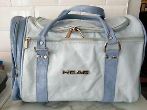 vintage head sports bag light blue