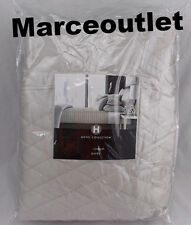 Hotel Collection Bedding Keystone FULL / QUEEN Quilted Coverlet Silver