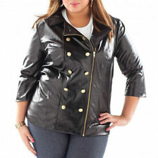 NWT BABY PHAT DOUBLE BREASTED FAUX LEATHER JACKET 2X 18 20