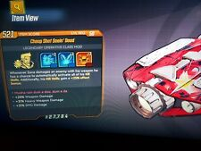 Seein Dead Zane Class mod 3DB weapon, SMG, and heavy dmg Borderlands 3 xbox RARE