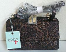 Hobo International Abrielle Cross Body Shoulder Bag Multi-Color Leopard Leather