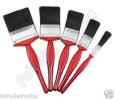 5 x DIY Paint Brush Wooden Handle Home Painting Decorating Art Kit Set