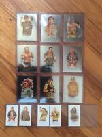 LOT OF 14 TOPPS ALLEN & GINTER 2007 & 2008 WWE HERITAGE TRADING CARDS .INSERTS !