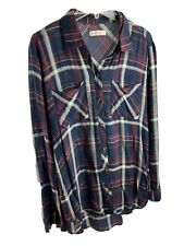 Abercrombie & Fitch Womens Plaid Soft Shirt Large