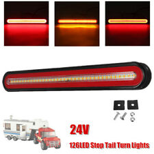 24V 126LED Car Truck Trailer Flowing Stop Turn Tail Brake Marker Clearance Lamp
