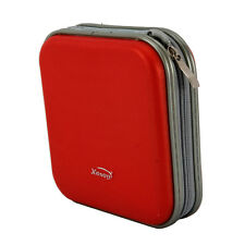 Stylish 40 Disc CD DVD Wallet Storage Media Organizer Album Holder Case Bag Red