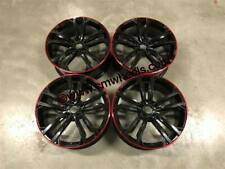 "18"" GTD Seville Style Alloy Wheels Gloss Black Red Lip VW Golf MK5 MK6 MK7 MK7.5"