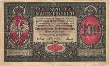 "Ro.455 Besetzung Polen 100 Marek 1917 (4) ""General-"""