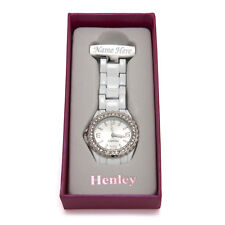 Personalised Engraved Henley Nurses Fob Watch White & Silver Graduation Gifts