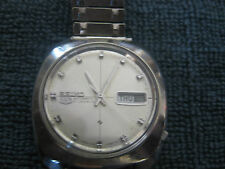 Used Automatic Seiko Mans, #6119-7080,Day Date, 21J, stainless steel