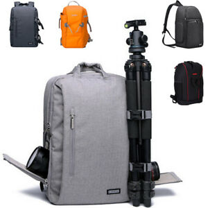 Men DSLR Camera Bag SLR Women's Shoulder Backpack For Canon Nikon Olympus Pentax