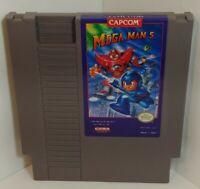 Nintendo Capcom NES *Mega Man 5* Original game cartridge Untested