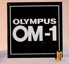 LARGE OLYMPUS OM1 PERSPEX DISPLAY PANEL