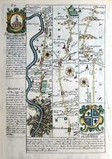 MIDDLESEX SURREY LONDON BAGSHOT STAINES  BY EMANUEL BOWEN GENUINE ANTIQUE c1720