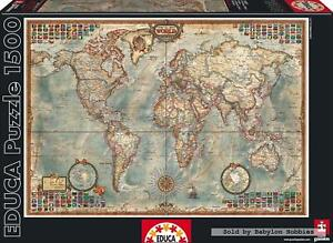 1500 pcs jigsaw puzzle: Political Map of the World (Maps) (EDUCA 16005)