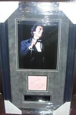 JOHNNY MATHIS Signed Montage AFTAL