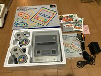 SNES Super Famicom Japan Edition Gray Console with BOX and Manual