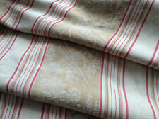 """Antique/Vintage French Damask  Cotton Ticking Fabric Stripe Upholstery 35"""" X86"""""""