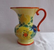 Vintage Ditmar Urbach Art Pottery Pitcher Vase Jug Hand Painted Czechoslovakian