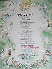 PUBLICITE DEAUVILLE GOLF POLO CHEVAL HOTEL PLAGE FLEURIE PIERRE PAGES DE 1962 AD