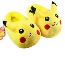 New 1Pair Cute Pikachu Plush Slippers Cotton Slipper Warm Shoes For Kids