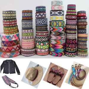 Jacquard Trim Braid or Embroidered Ribbon Craft Sewing Retro Boho Ethnic Scandi
