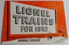 Lionel 1952 Advance Catalog Excellent Condition