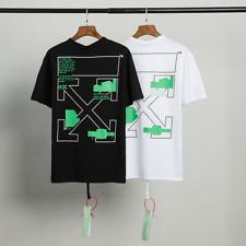 Hot OFF-WHITE C/O VIRGIL ABLOH MENS COLLECTION T-Shirt 100% COTTON T-SHIRT