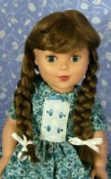 Imsco GINNY Lt Brown Full Cap Doll Wig Size 12-13, Straight Braids, Scandinavian