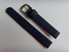 Watch Strap Leather Blue 14 Mm Attachment For Screwing Skagen Bering Boccia DD
