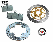 DUCATI  848 Evo (Monobloc front calipers) 10-13 REAR BRAKE DISC ROTOR & PADS