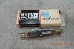 Vintage Schrade OLD TIMER 340T Pocket Knife Box Instructions NOS Schrade Minty